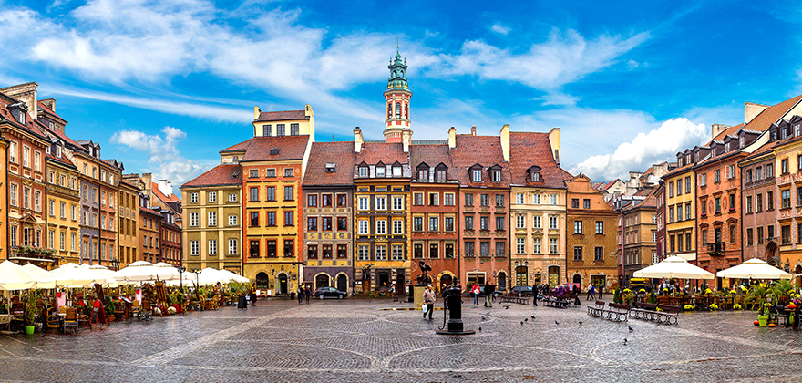 www.GetBg.net 2017World Poland Architecture of the city square Warsaw. Poland 113940