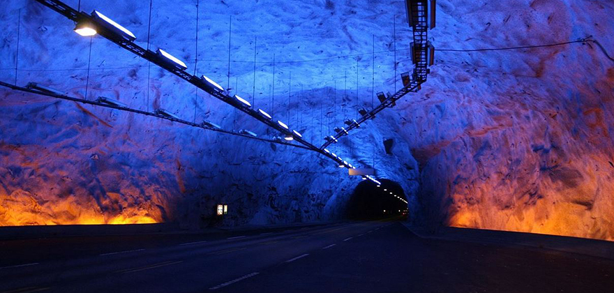 LED Tunnel in Norway